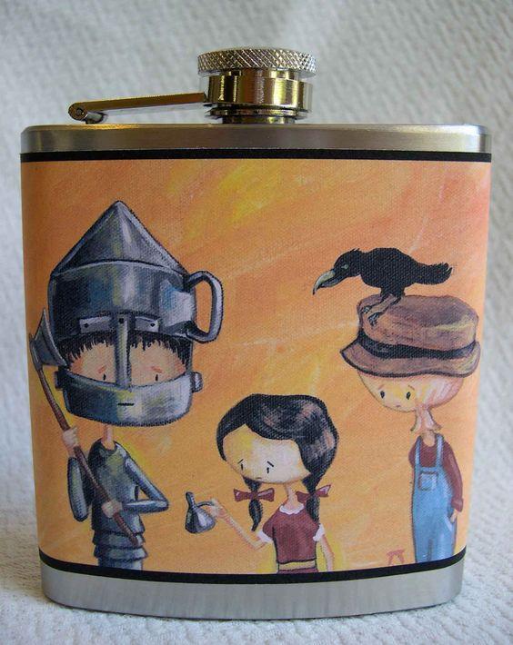 Wizard of OZ Flask. $17.00, via Etsy.