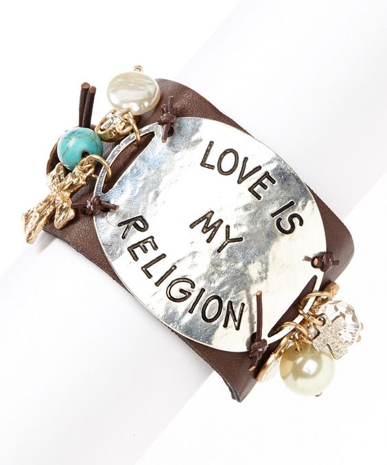 Another great find on #zulily! Brown & Silver 'Love Is My Religion' Bracelet by  #zulilyfinds