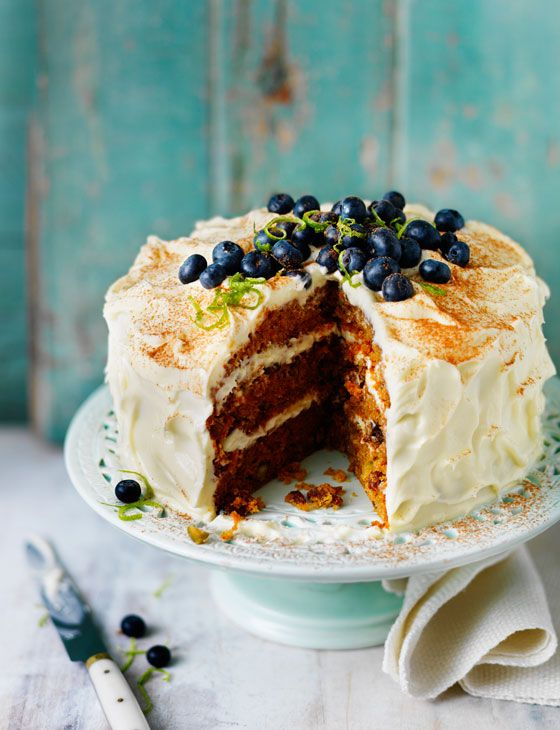Carrot and pistachio cake. Beautiful!: