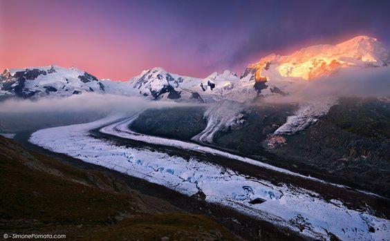 Glowing Glacier by Simone Pomata