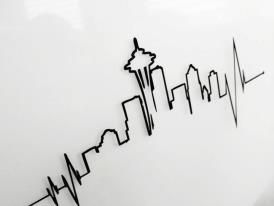 My heart beats for Seattle...this would be a really neat tattoo.