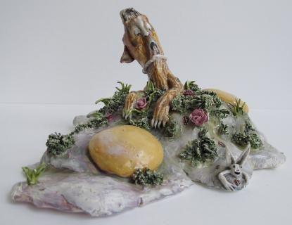 Œufs au plat fleuris Marlène Mocquet
