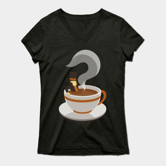 Mystery Tea Womens V-Neck T-Shirt
