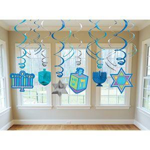 Hanukkah Hanging Swirls