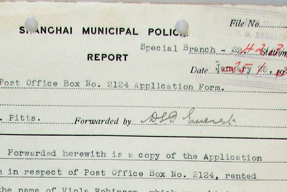 Shanghai Municipal Police report 1930s Old and interesting spy - police incident report template word