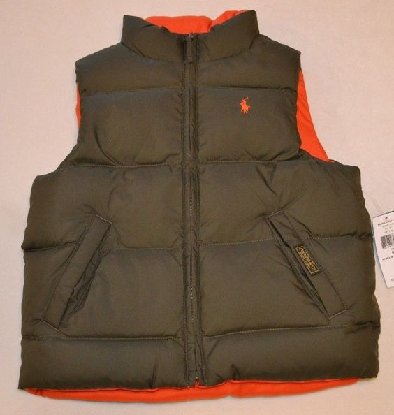 *RALPH LAUREN* *NWT* Boy Sz 5 Down Feather Puffer Vest/Jacket Reversible #RalphLauren #Vest #DressyEverydayHoliday