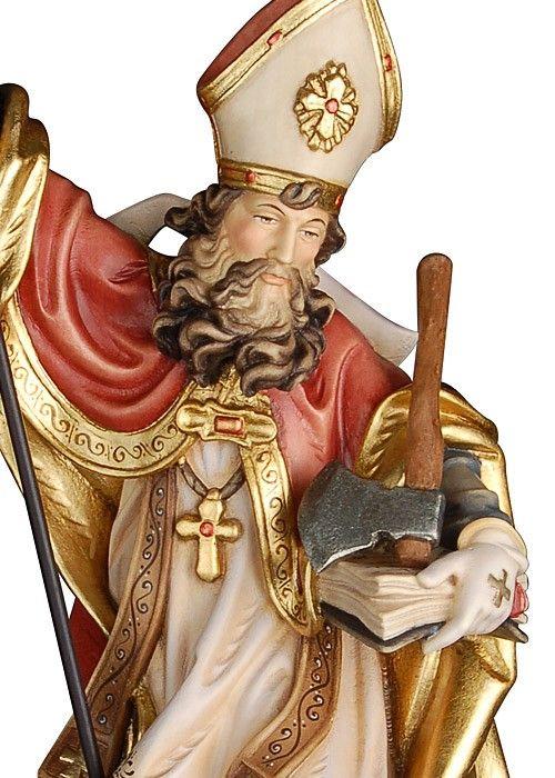 St Boniface of Germany | http://www.saintnook.com/saints/bonifaceofgermany/ |   Detailansicht des Heiligen Bonifatius mit der Axt als Attribut