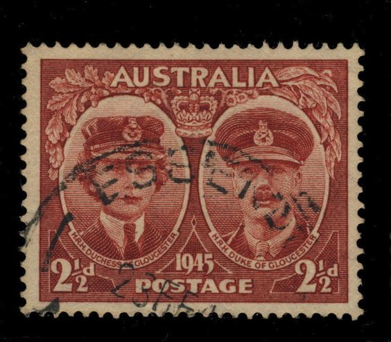 AUSTRALIA - 1945 - CDS OF ESSENDON (VIC) ON 2 1/2d LAKE SG209