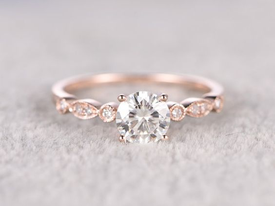 brilliant Moissanite Engagement ring Rose by popRing on Etsy anillos de compromiso | alianzas de boda | anillos de compromiso baratos http://amzn.to/297uk4t: