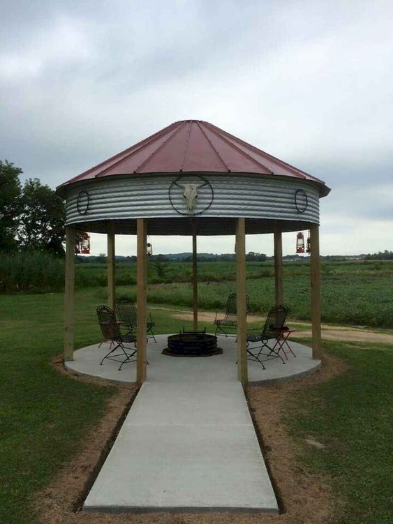 A Grain Silo Turned Into Gazebo Could Be Your Best Summer Retreat Decor Home Ideas Outdoor Fire Pit Seating Outdoor Fire Gazebo