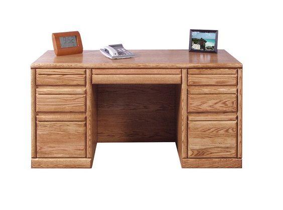 "FD-1048 - Contemporary Oak 60"" Executive Desk"