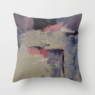 Morning Mist Throw Pillow by Patricia Schwimmer - $20.00