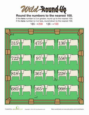 Rounding to the Nearest Hundred | Place value worksheets, To the ...