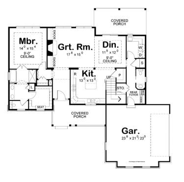 First-Rate Family Space (HWBDO76350) | Traditional House Plan from BuilderHousePlans.com