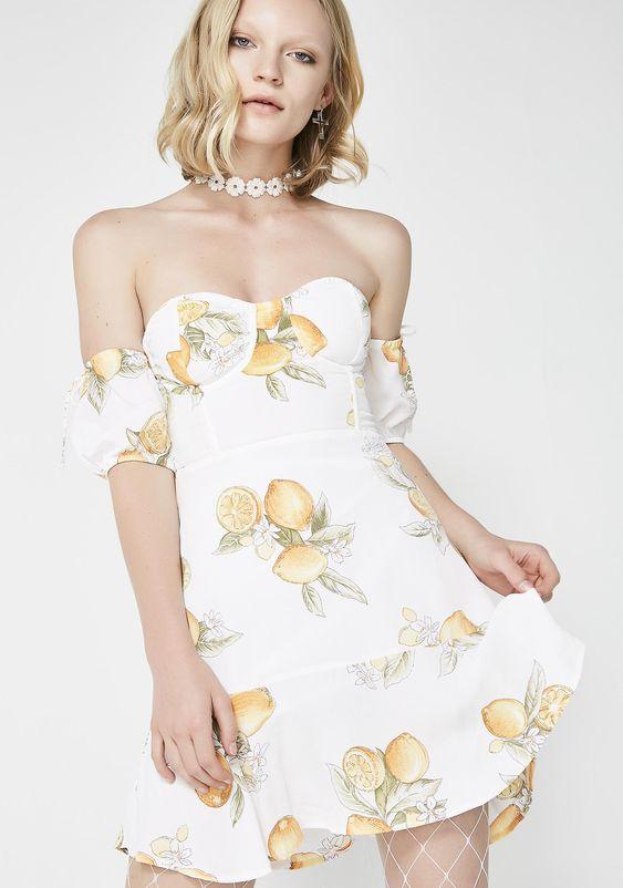 For Love & Lemons Lemonade Mini Dress | Dolls Kill