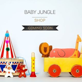 I'm so very excited to finally announce the news! There is going to be a BABY JUNGLE SHOP from next week on and the butterflies in my stomach are hoping you'll like it!