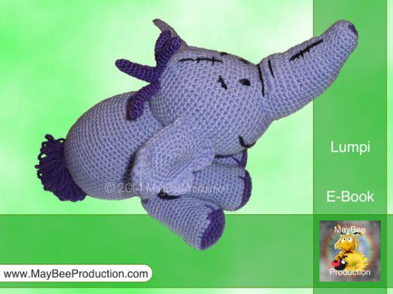 Lumpi, der lila Elefant - PDF Häkelanleitung