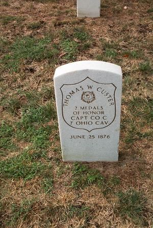This was General George Custer's brother, notice he was awarded 2 Medals of Honor, Ft Leavenworth National Cemetery, Kansas