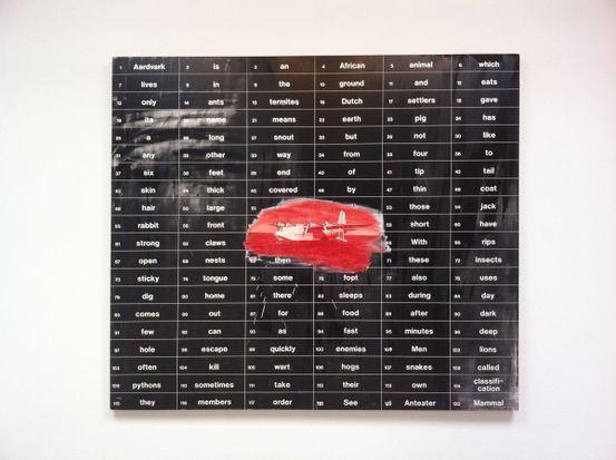 Vernon Fisher, Aardvark Shorter History, 1991; oil and acrylic on canvas