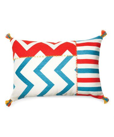 Look what I found on #zulily! Turquoise & Orange Ziggy Throw Pillow #zulilyfinds