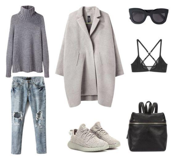 """Yeezy II"" by fashionlandscape ❤ liked on Polyvore featuring moda, Zero + Maria Cornejo, adidas Originals, CÉLINE, Kara, La Garçonne Moderne e Yasmine eslami"
