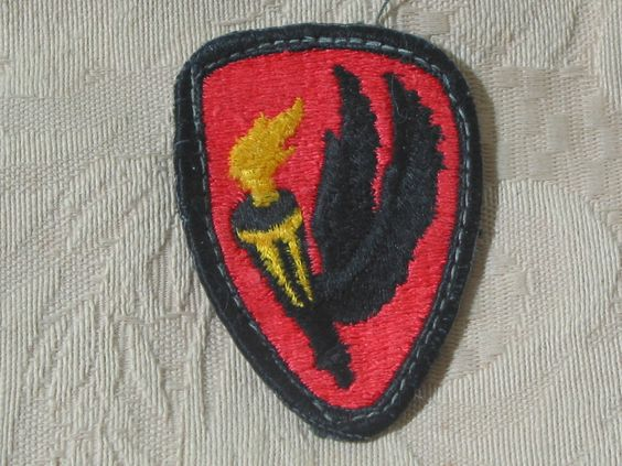MILITARY SHOULDER PATCH Helicopter Aviation Flight School Vietnam Torch & Wings  Junk_579  http://ajunkeeshoppe.blogspot.com/