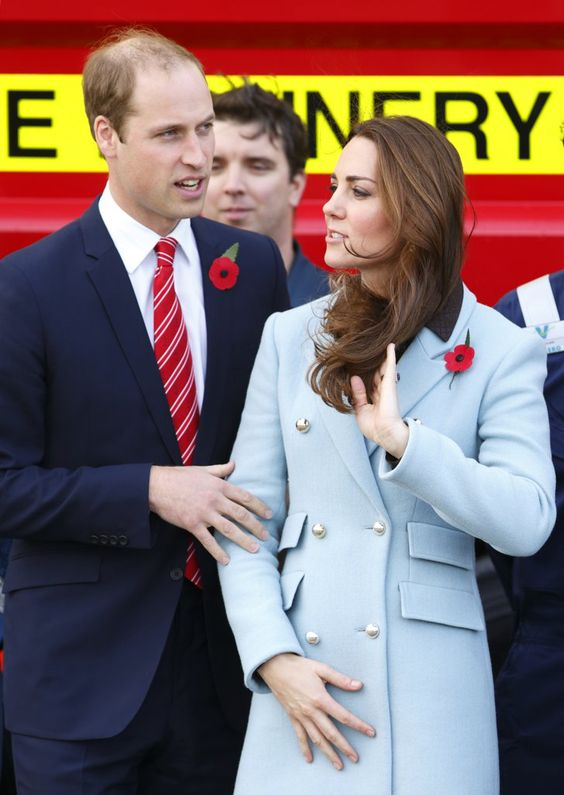 "Pin for Later: 48 Times You Could Almost Relate to Will and Kate The ""Lemme Take This One"" William put a guiding hand on Kate in November 2014 as they toured the Pembroke Refinery."