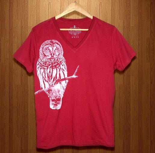 Owl 100% Algodón Jersey Peruano Color: Burgundy Tallas: S - M Corte: SLIM FIT