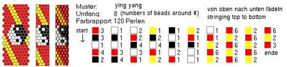 Schlauchketten häkeln - Musterbibliothek: ying_yang