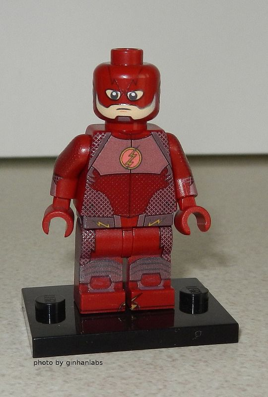 Custom LEGO Flash From Upcoming Tv Series Minifigsu Legos - How to make homemade lego decals