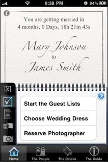 Why pay a wedding planner when there's an app for that? Awesome!!