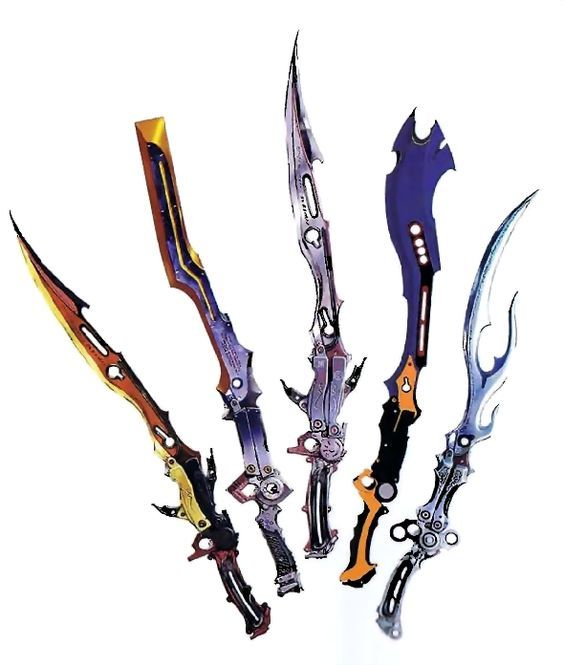 Lightning's gunblades, Final fantasy XIII: