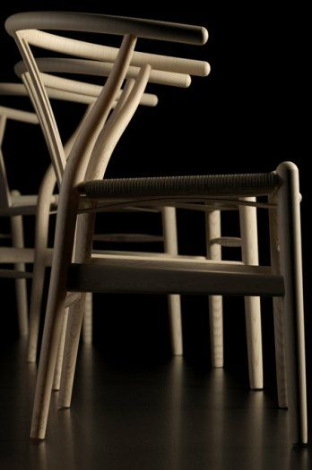 The Wishbone Chair or the Y-chair was designed in 1949 by Hans Wegner