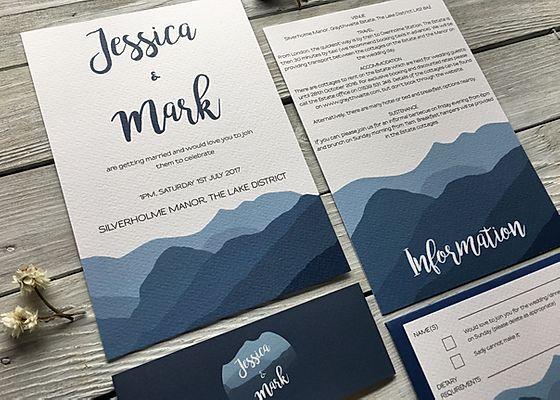 Wedding Invitations Stationery Lake District Cumbria In 2020