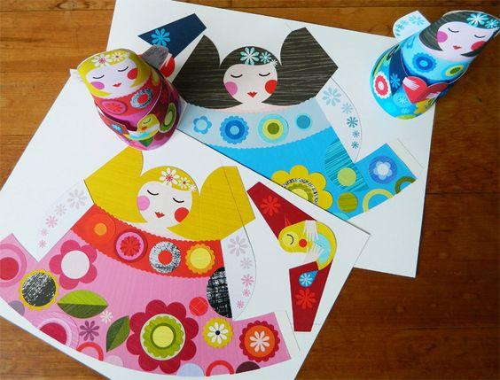 Pretty Angel Doll Paper craft. $13.00, via Etsy.