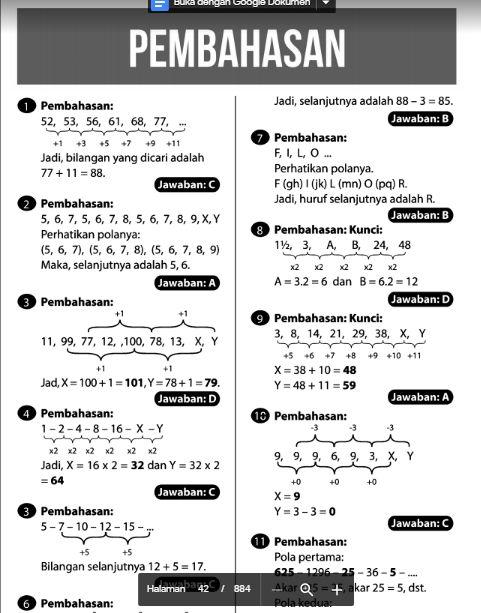 Tes Psikotes Tiu 5 Dan Jawabannya Pdf Psikotes Untuk Kamu Di 2021 Matematika Dasar Psikologi Huruf