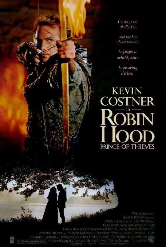 1991 Affiche Americaine 1 Du Film Robin Des Bois Prince Des Voleurs Tournee En Partie A Carcassonne Avec Kevin Costner M Beau Film Robin Des Bois Film