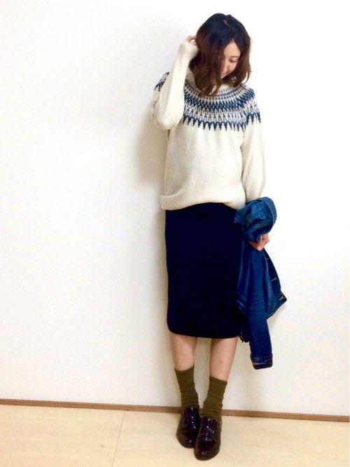 画像 : 冬っぽさが可愛い♡ノルディック柄ニットのコーディネート - NAVER まとめ