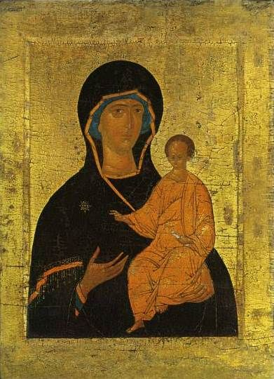Icon of the Mother of God Hodegetria (mid-15th century)