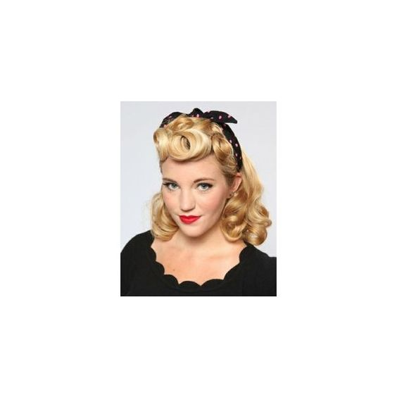 1950's pin up hairstyle's ❤ liked on Polyvore featuring hair
