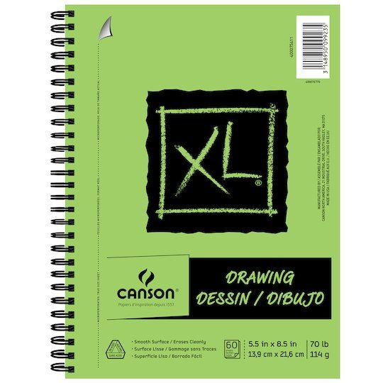 Canson Xl Drawing Pad Spiral Drawing Art Pad Drawings