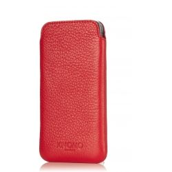 iPhone Leather Slim Sleeve Fits iPhone 5/5S & SE Scarlet