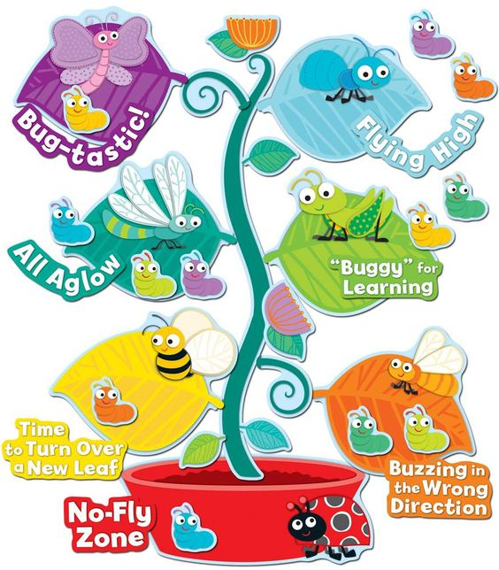 """Buggy"" for Bugs Behavior Bulletin Board Set 
