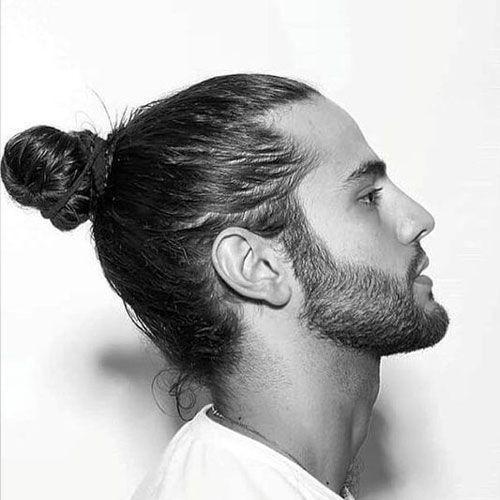 Japanese Male Hairstyles Samurai Man Bun Hair Japanese Hairstyle Mens Hairstyles Long Hair Styles Men