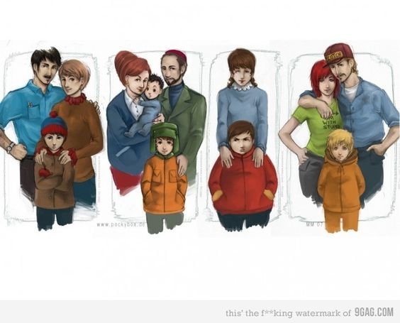 South Park Families. Pretty sweet illustration.