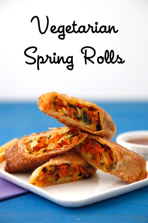 Vegetarian Spring Rolls on Weelicious