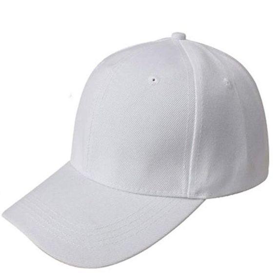 Baseball Cap, Xinantime Simple Blank Adjustable Hat (White )