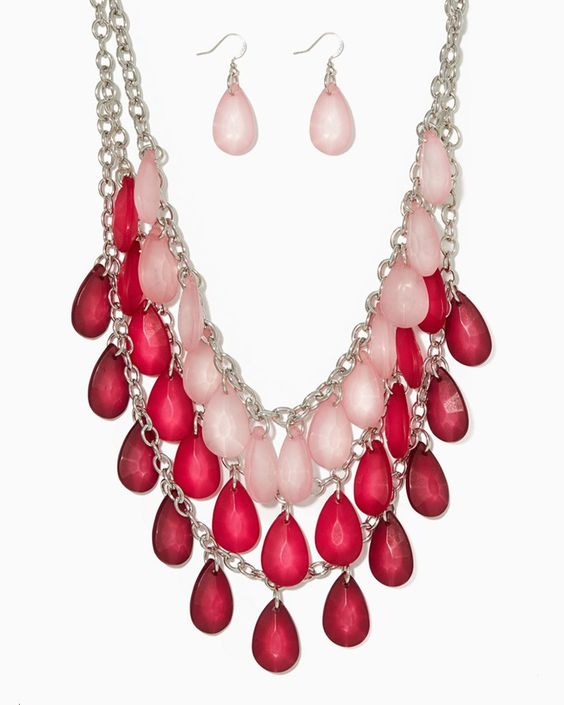 charming charlie | North Shore Tiered Necklace Set | UPC: 410007042253 #charmingcharlie