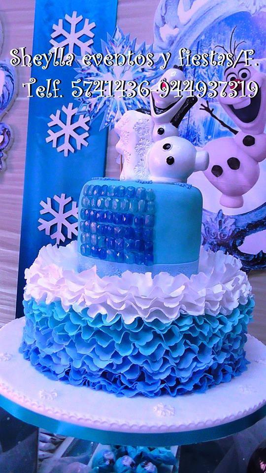 Torta de Frozen Sheylla eventos y fiestas/facebook Informes Imbox. Correo: sheylla_eventos@hotmail Telf. 5741436-944937319 Lima-Perú