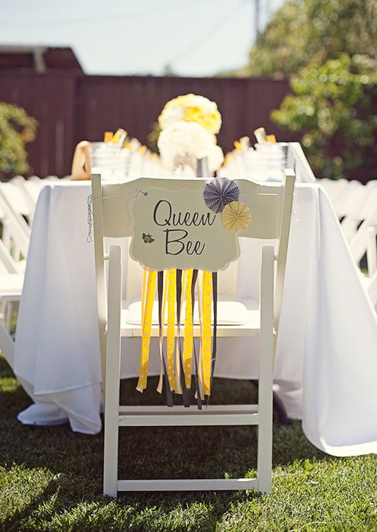 Bumble bee themed party...@Alicia T T T T Boudreau   I think I found the theme for your next birthday!: